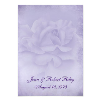 Faded Rose Vow Renewal Card