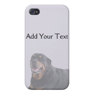 Faded Rottweiler Laying Down on Grey Cases For iPhone 4