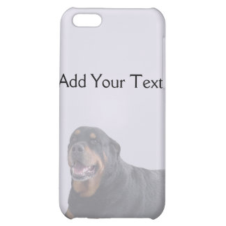 Faded Rottweiler Laying Down on Grey iPhone 5C Covers
