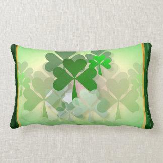 Faded Shamrocks Pillow