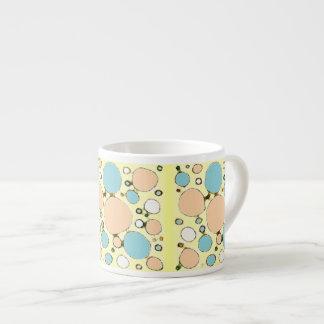 Faded Sketchy Circles 6 Oz Ceramic Espresso Cup