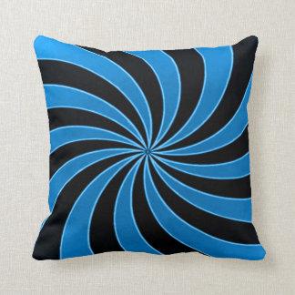 Faded Sky Mind Warp Stripes Throw Pillow