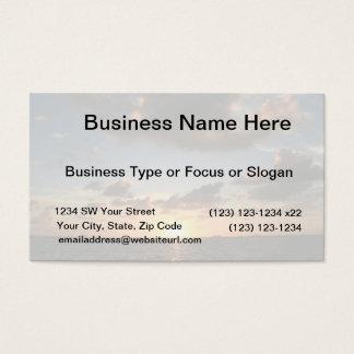 Faded sunrise image Florida beach Business Card