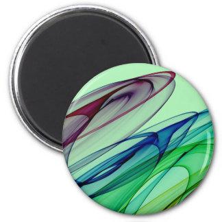 Faded Swirls 2 Inch Round Magnet