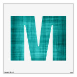 Faded Teal Fabric Room Stickers