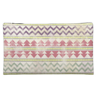 Faded Tribal Inspired Cosmetics Bag Cosmetic Bag