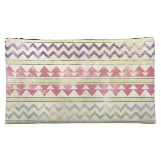 Faded Tribal Inspired Cosmetics Bag Cosmetic Bag