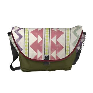 Faded Tribal Inspired Messenger Bag