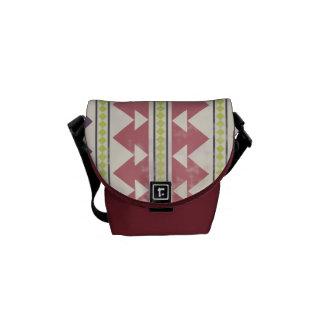 Faded Tribal Inspired Mini Messenger Bag