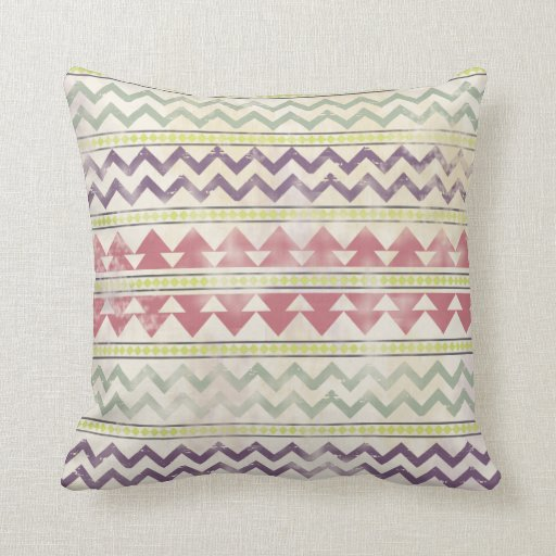 Faded Tribal Inspired Pillow