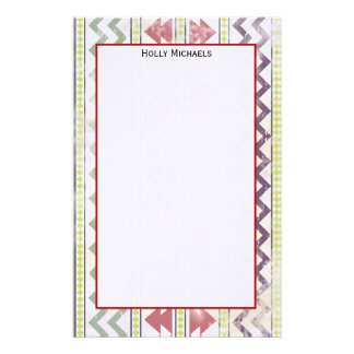 Faded Tribal Inspired Stationery