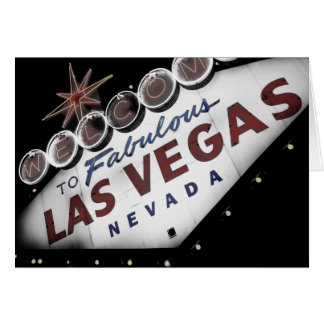 Faded Vegas Sign - Cards