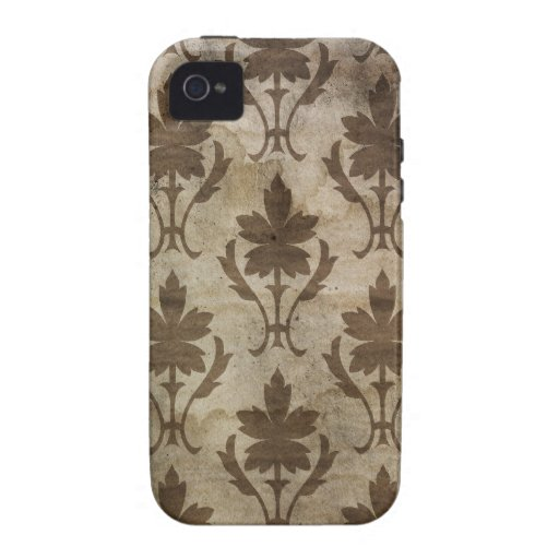 Faded vintage damask wallpaper iPhone 4 covers