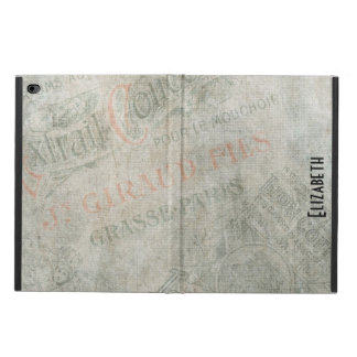 Faded Vintage Parisian Paper Ads Personalized Powis iPad Air 2 Case