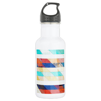 Faded Vintage Stripes 18oz Water Bottle