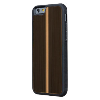 Faded White Stripe on Black Carved® Cherry iPhone 6 Bumper Case