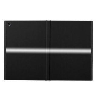 Faded White Stripe on Black Case For iPad Air