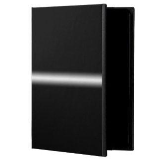 Faded White Stripe on Black iPad Folio Case