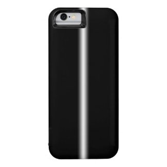 Faded White Stripe on Black iPhone 6 Case