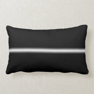 Faded White Stripe on Black Lumbar Pillow
