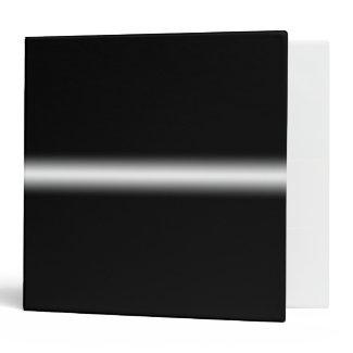 Faded White Stripe on Black Vinyl Binder