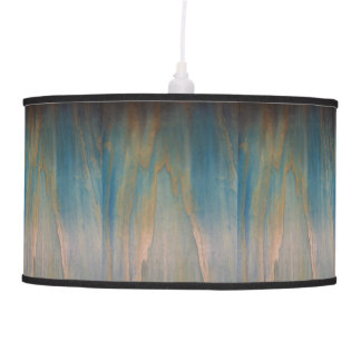 Faded Wood Barrel Shade Lighting Pendant Lamp