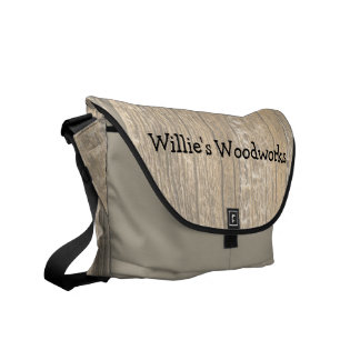 Faded Wood Messenger Bag