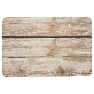 Faded Worn Old Wood Flooring Floor Mat