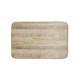 Faded Worn Wood Flooring Texture Bathroom Mat
