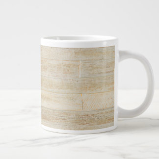 Faded Worn Wood Flooring Texture Giant Coffee Mug