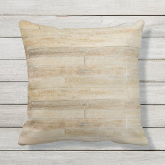 Faded Worn Wood Flooring Texture Outdoor Throw Pillow