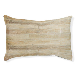 Faded Worn Wood Flooring Texture Pet Bed