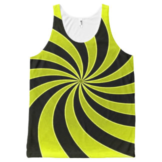 Faded Yellow Mind Warp All-Over-Print Tank Top