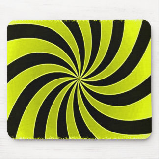 Faded Yellow Mind Warp Stripes Mouse Pad