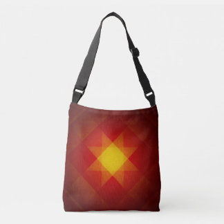 Faded yellow star pattern crossbody bag