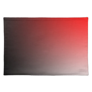 Fades: Black and Red Cloth Placemat
