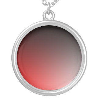 Fades: Black and Red Round Pendant Necklace