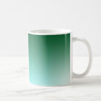 Fades: Dark Green and Light Blue Coffee Mug