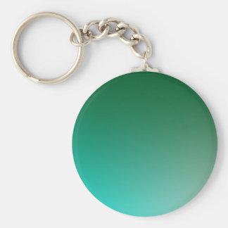 Fades: Dark Green and Light Blue Keychain