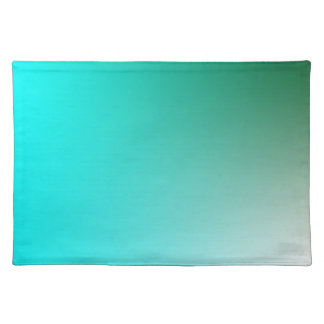 Fades: Dark Green and Light Blue Placemat