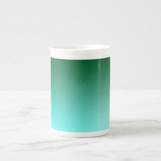 Fades: Dark Green and Light Blue Tea Cup