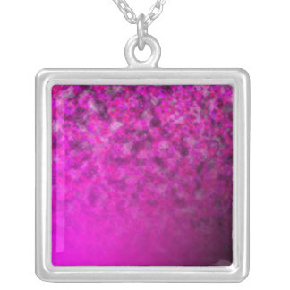 Fades: Magenta and Cloud Square Pendant Necklace
