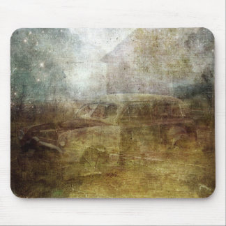 Fading Away Abandoned Car Mouse Pad