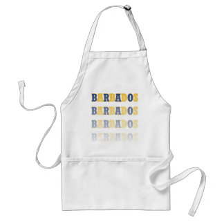 Fading Barbados Text Adult Apron