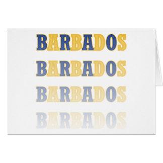 Fading Barbados Text Greeting Card