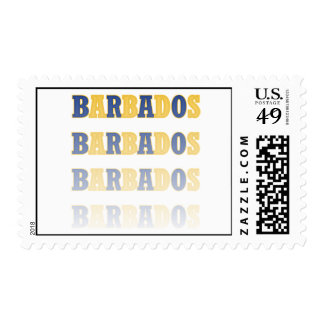 Fading Barbados Text Stamp