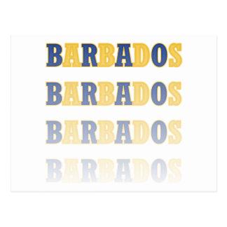 Fading Barbados Text Postcard
