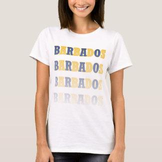 Fading Barbados Text T-Shirt