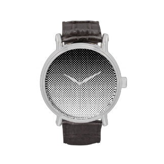 Fading Black and White Dots Watch