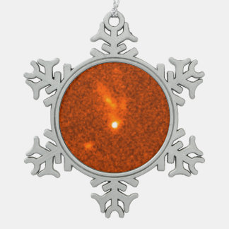 Fading Fireball From Gamma Ray Burst 990123 (Close Snowflake Pewter Christmas Ornament